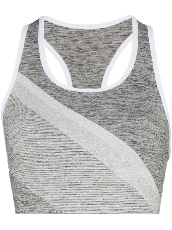 LNDR comet sparkle stripe sports bra in grey