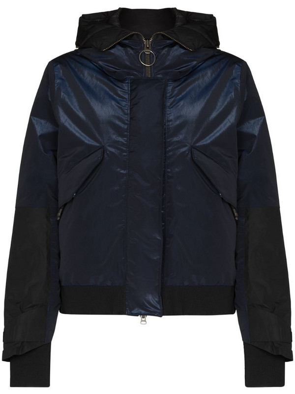 Holden reflective detail hooded padded jacket in blue