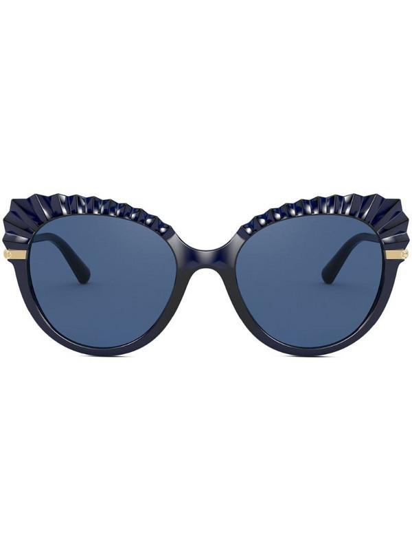 Dolce & Gabbana Eyewear oversized cateye sunglasses in blue