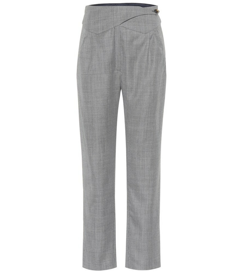 Blazé Milano Basque straight wool pants in grey