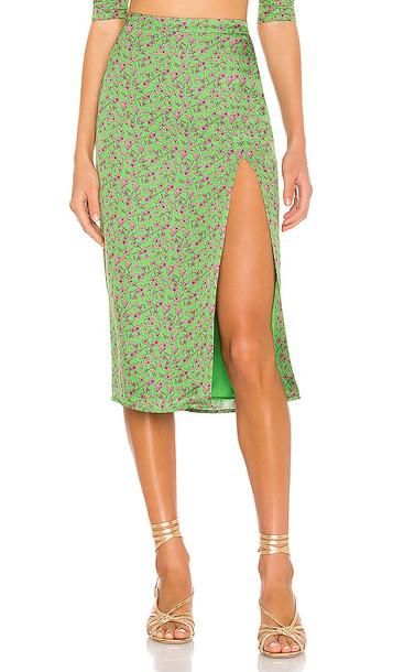 Camila Coelho Cruz Skirt in Green