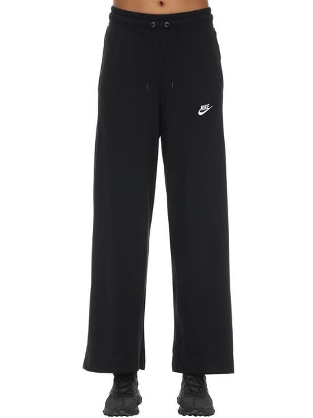 NIKE Wide Leg Jersey Pants in black