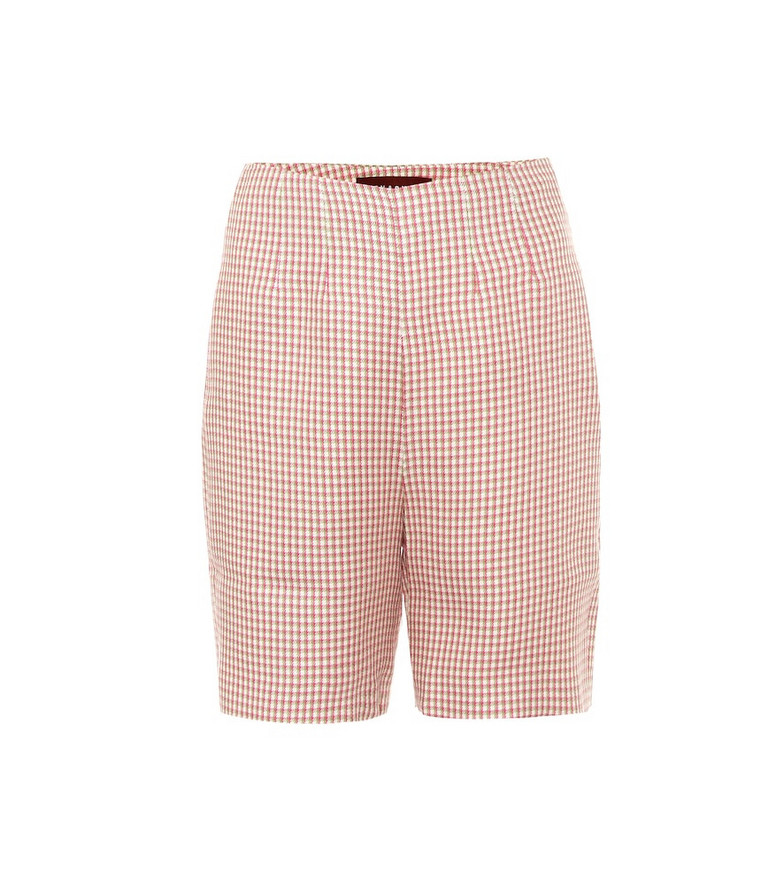 AlexaChung May high-rise houndstooth shorts in pink