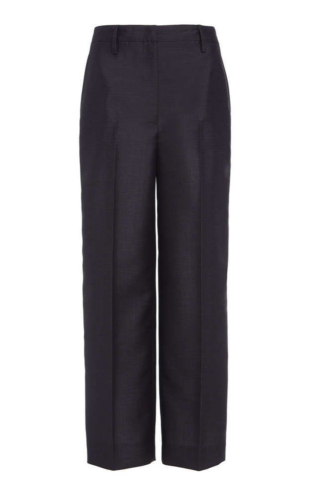 Prada Cropped Wool Tapered Pants Size: 36 in grey