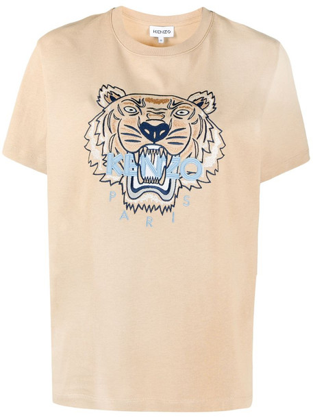 Kenzo logo-print short-sleeve T-shirt in neutrals