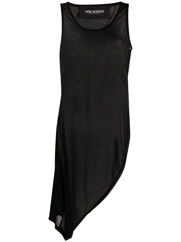 Neil Barrett asymmetric tank top dress in black