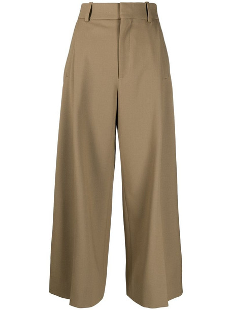 Chloé cropped trousers in brown