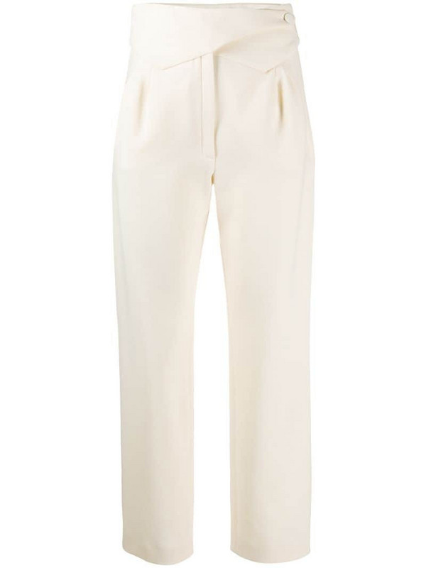 Blazé Milano pointed waistband straight-leg trousers in white