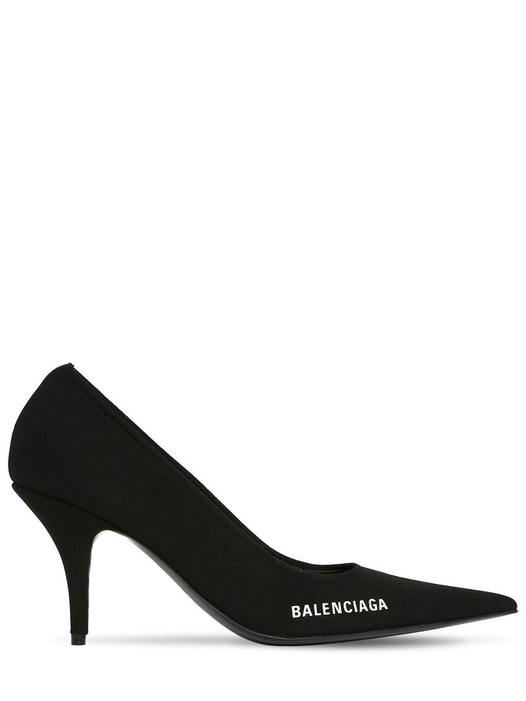 BALENCIAGA 80mm Knife Knit Pumps in black