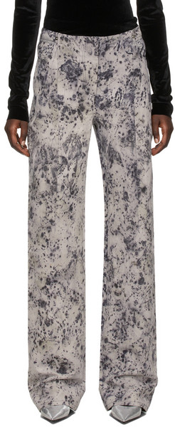 Kathryn Bowen Grey Darted Jeans in rose