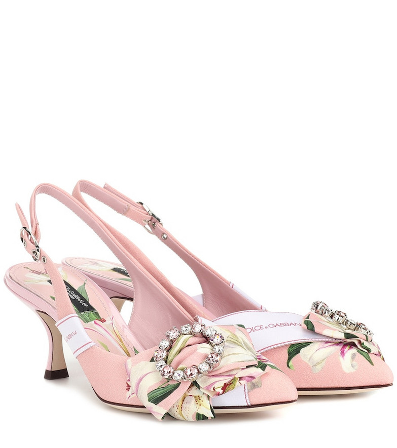 Dolce & Gabbana Floral slingback pumps in pink