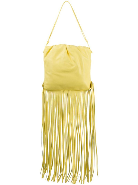 Bottega Veneta The Fringe Pouch in yellow