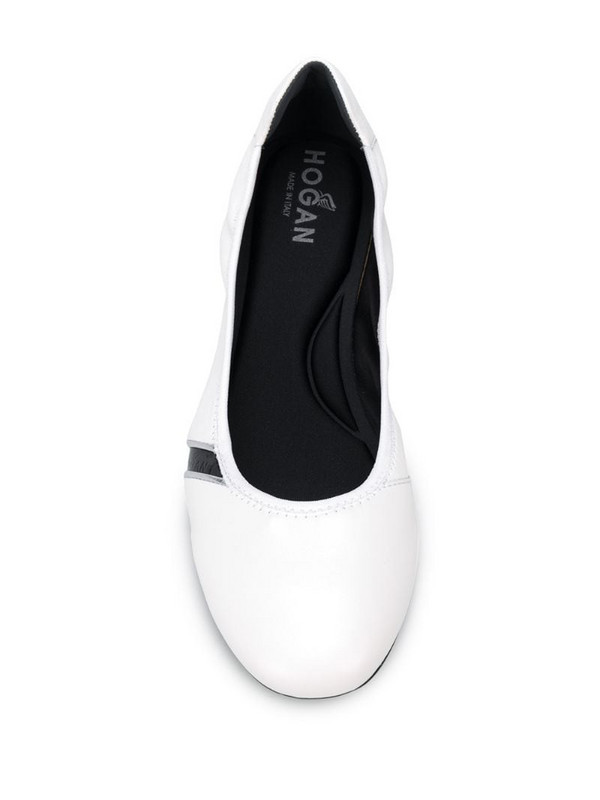 Hogan H511 flat ballerina pumps in white