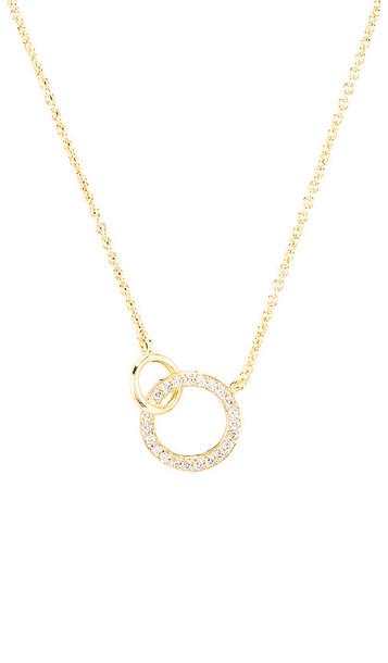 gorjana Balboa Shimmer Interlocking Necklace in Metallic Gold