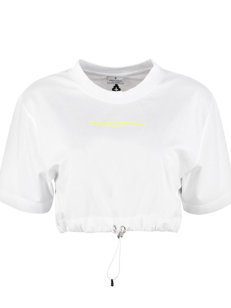 Marcelo Burlon Printed Cropped T-shirt in white