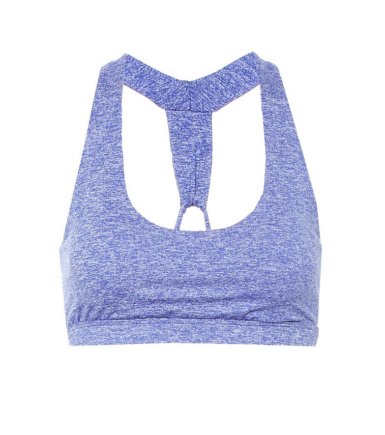Lanston Sport Naked Loop Back sports bra in blue