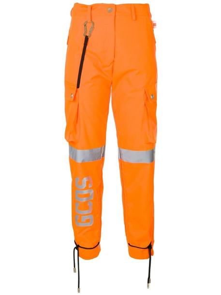Gcds work-style trousers in orange