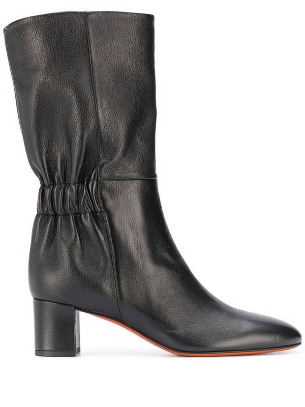 Santoni elasticated boots in black
