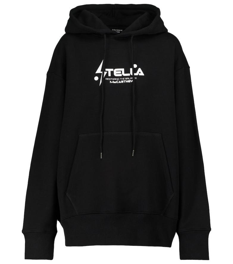STELLA McCARTNEY x Tom Tosseyn logo printed hoodie in black