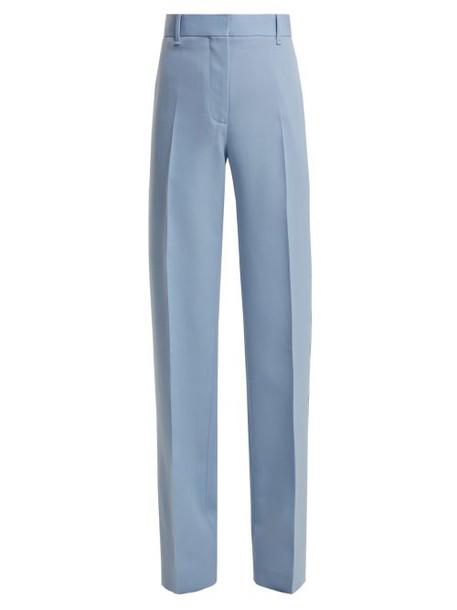 Calvin Klein 205w39nyc - Mid Rise Wool Gabardine Trousers - Womens - Blue Multi