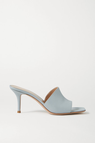 Gianvito Rossi - 70 Leather Mules - Blue