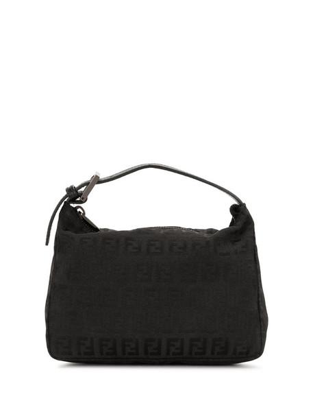 Fendi Pre-Owned Zucchino pattern handbag in black