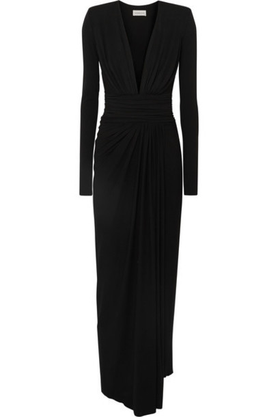 Alexandre Vauthier - Ruched Stretch-jersey Gown - Black