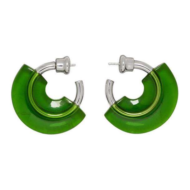 Panconesi Green Mini Resin Hoop Earrings
