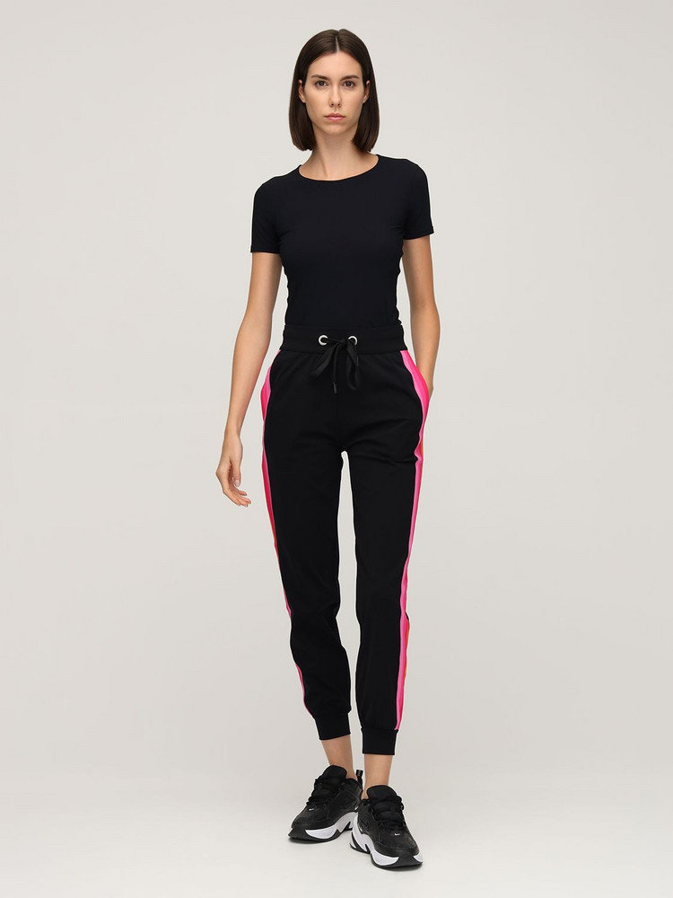 NO KA'OI Sunlight Jogger Pants in black / pink