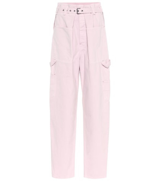 Isabel Marant Inny high-rise wide-leg jeans in pink