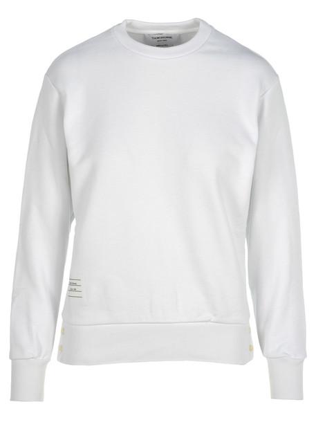 Thom Browne Stripes Detail Sweatshirt in white