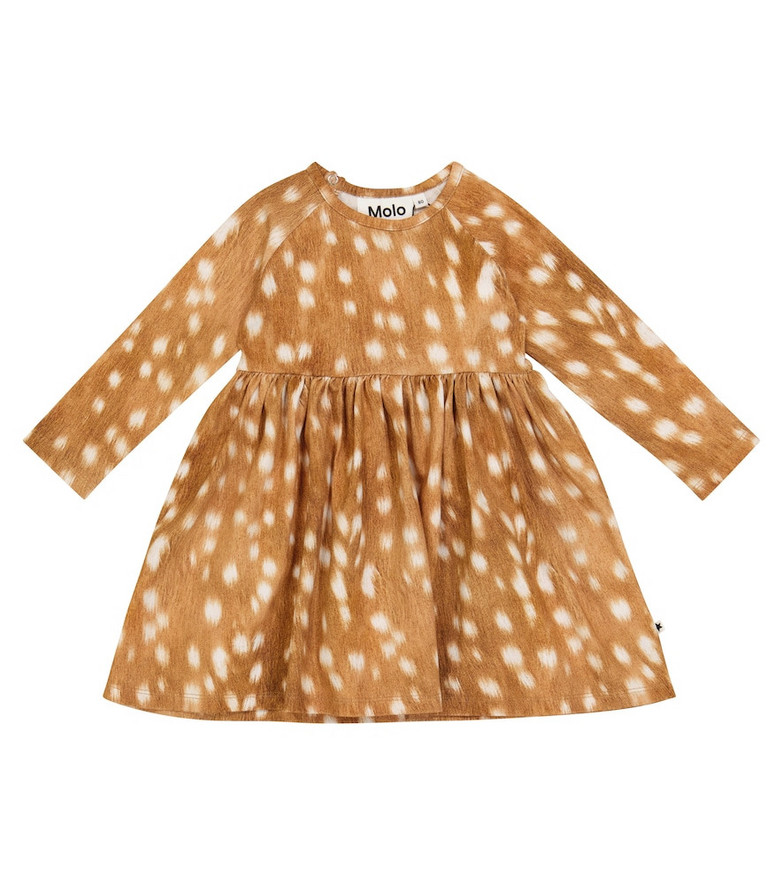 Molo Baby Charmaine printed stretch-cotton dress in brown