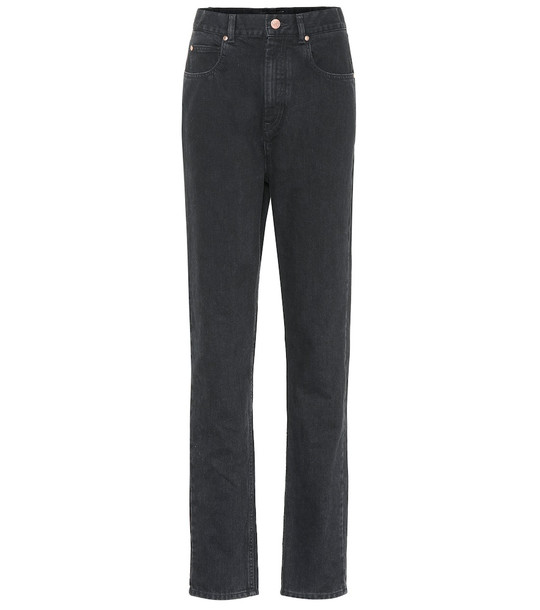 Isabel Marant Dustin high-rise straight jeans in black