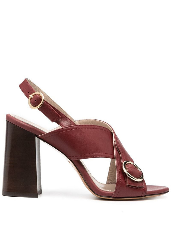 Tila March sling-back block heel sandals in red