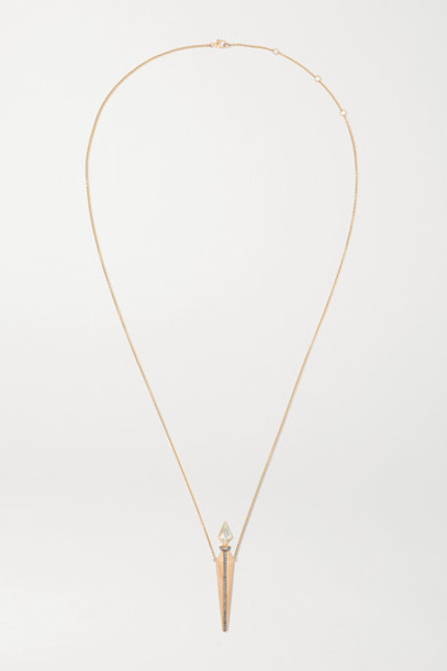 Diane Kordas - Amulette 18-karat Rose Gold Diamond Necklace