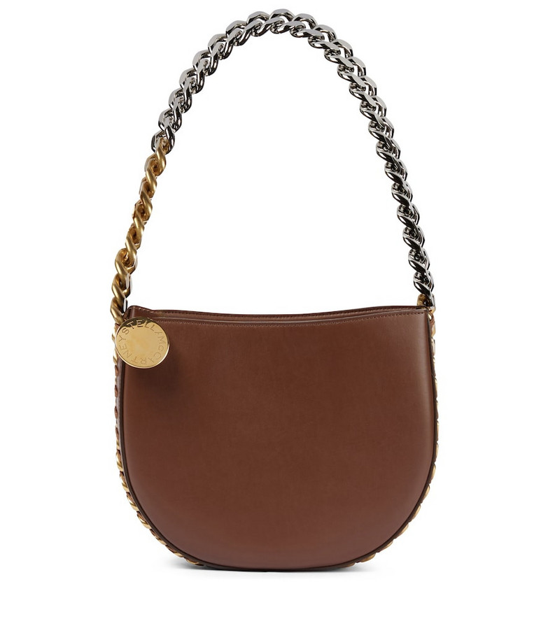 STELLA McCARTNEY Frayme Medium faux leather shoulder bag in brown