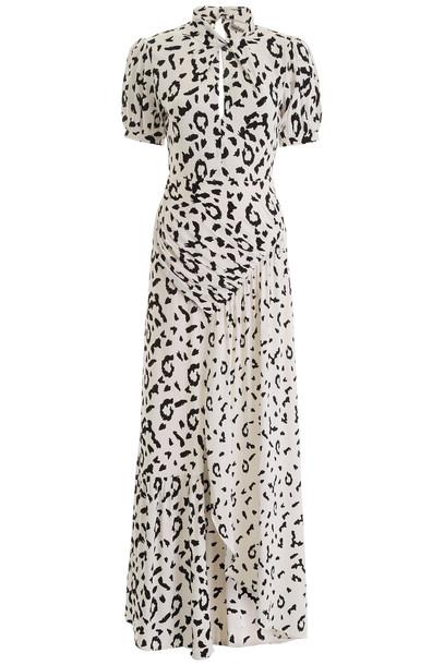self-portrait Leopard Printed Crepe Dress