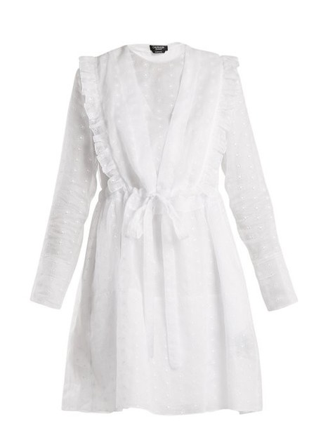 Calvin Klein 205w39nyc - Broderie Anglaise Cotton Organza Dress - Womens - White