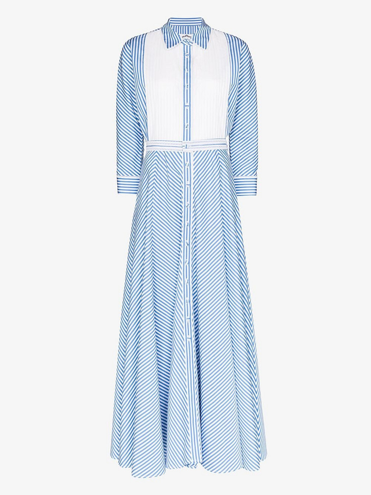 Evi Grintela Garance collared cotton dress in blue