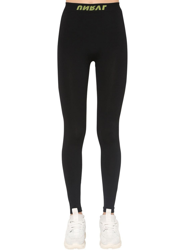 UNRAVEL Technical Seamless Stretch Leggings in black