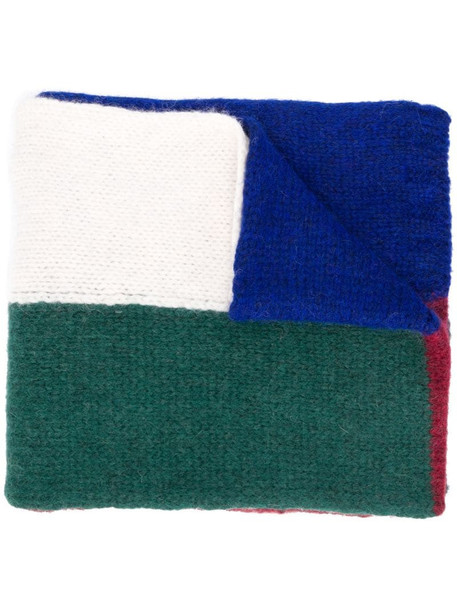 Plan C colour block scarf in blue