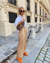 shoes,loafers,wide-leg pants,white shirt,oversized,dior bag