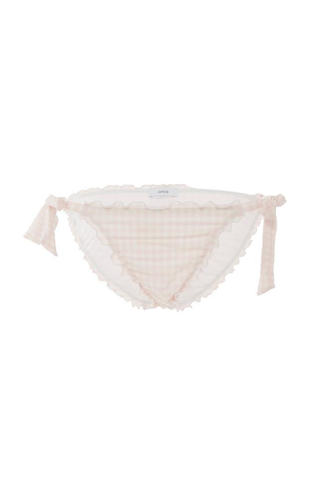 Onia Jaime Classic String Bikini Bottom in pink