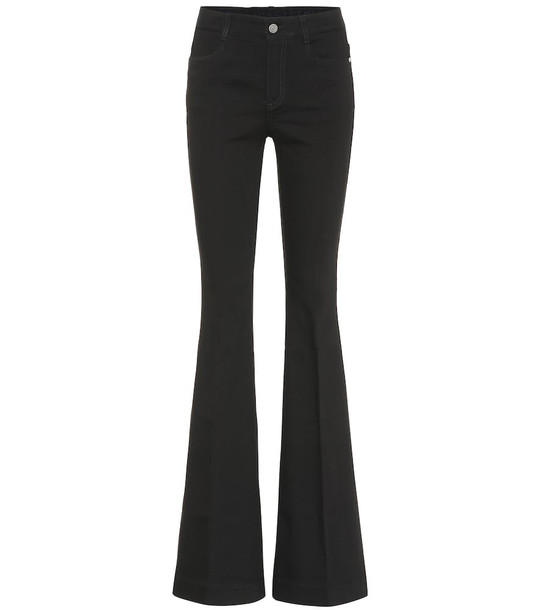 Stella McCartney High-rise bootcut jeans in black