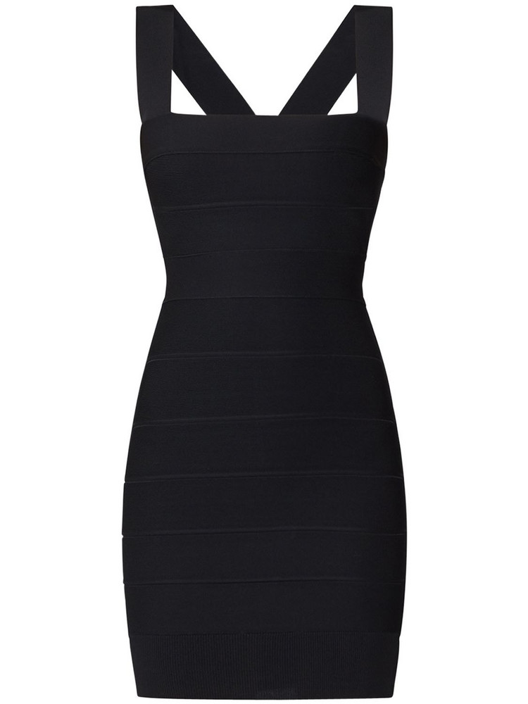 HERVÉ LÉGER Jersey Bandage Mini Dress in black