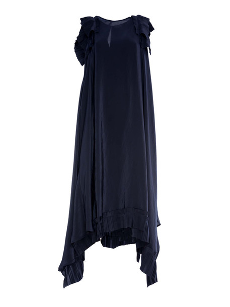 Parosh P.a.r.o.s.h. Pleated-hem Dress in blue