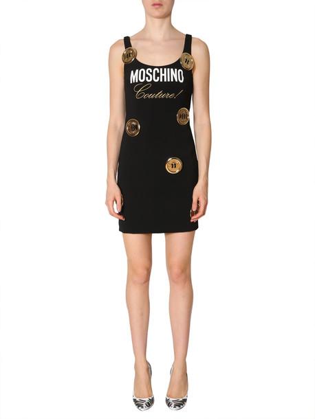 Moschino Sleeveless Dress in nero