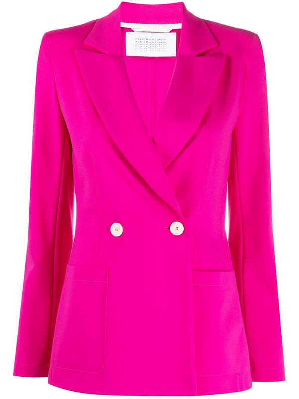 Harris Wharf London fitted tailored blazer in pink