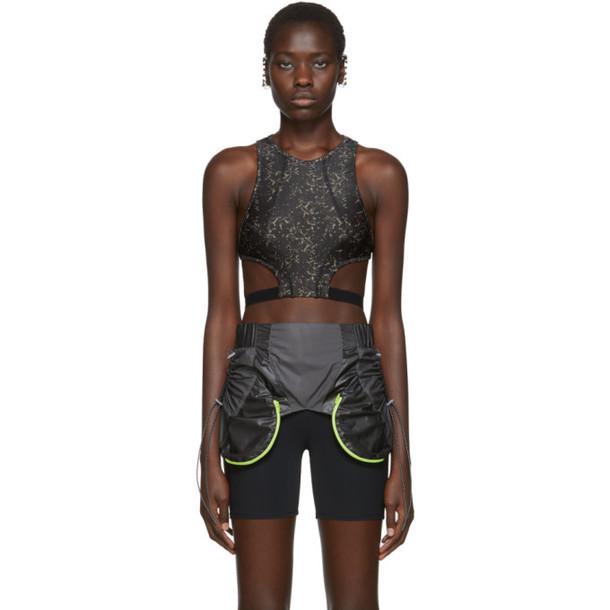 Charlotte Knowles SSENSE Exclusive Black Void Sports Bra
