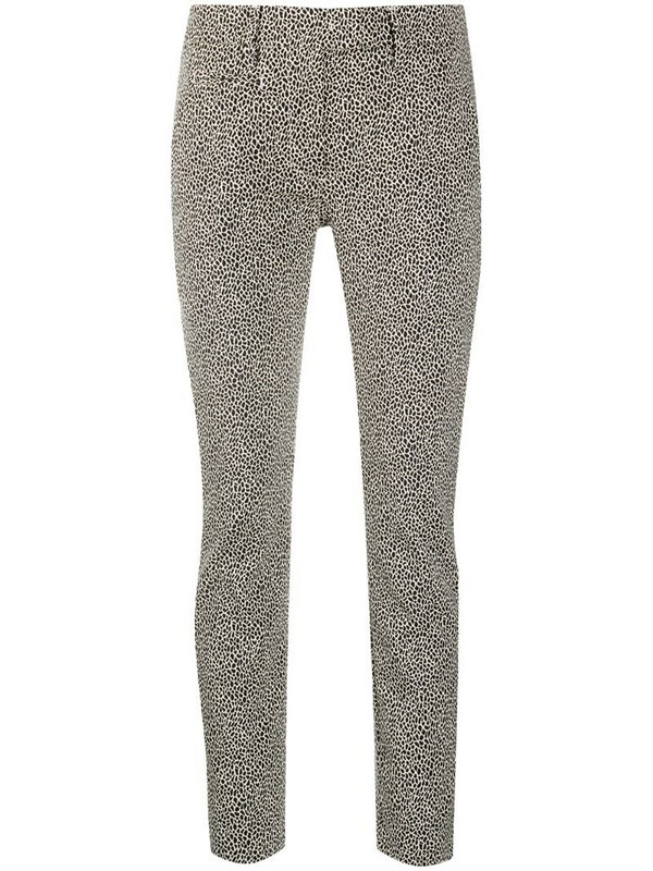 Dondup slim-fit leopard print trousers in black